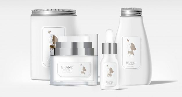 Realistic blank tube cosmetic package Premium Vector