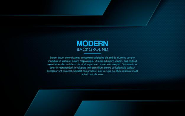Realistic blue overlap layer background Premium Vector