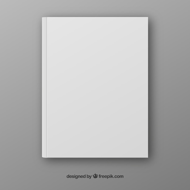 realistic book template in front side vector free download