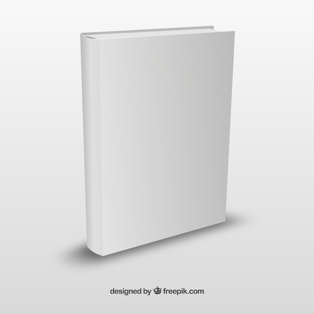 realistic book template vector free download