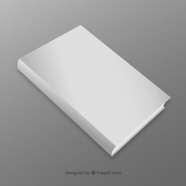 Realistic book with blank cover Free Vector