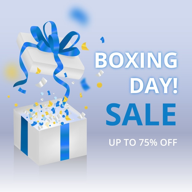 Realistic boxing day sale concept Free Vector