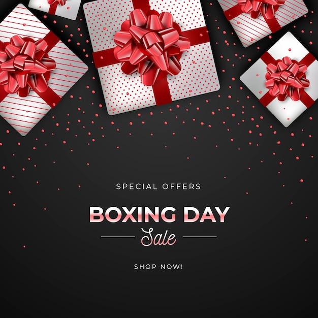 Vendita realistica di boxe day Vettore gratuito