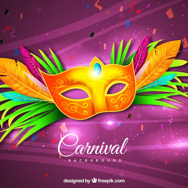 Realistic brazilian carnival background Free Vector
