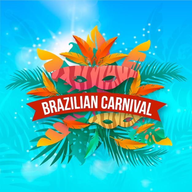 Realistic brazilian carnival design Free Vector