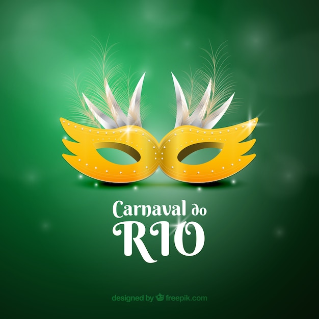 Realistic brazilian carnival mask Free Vector