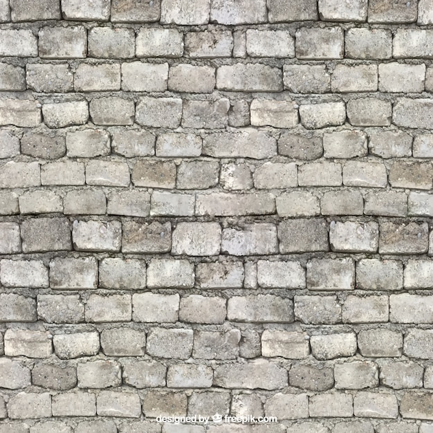 Realistic Bricks Wall Texture Free Vector