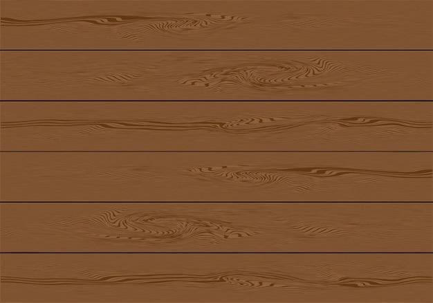 Realistic brown wooden plank background Premium Vector