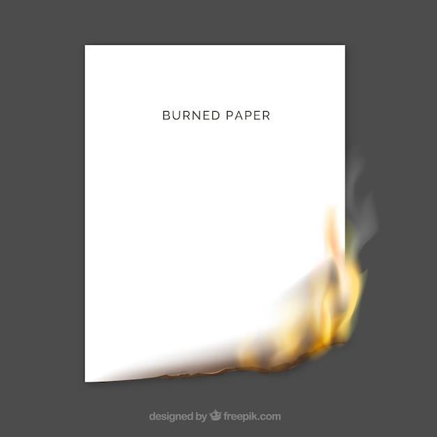 Texture di carta bruciata realistico Vettore gratuito