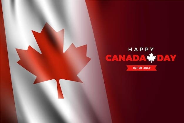 Realistic canada day concept Free Vector