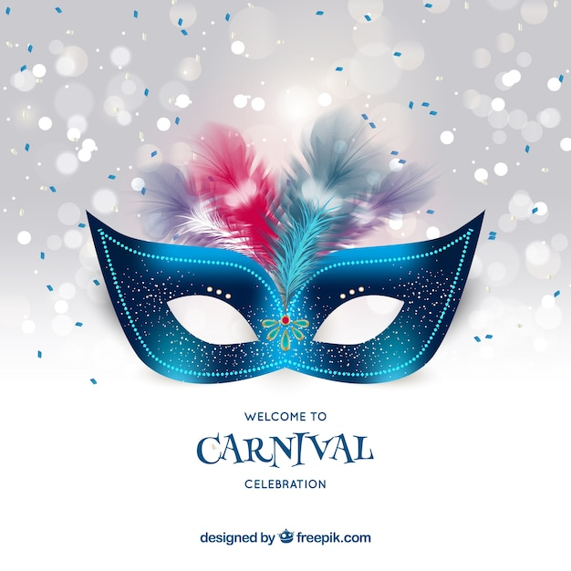 Realistic carnival background Free Vector