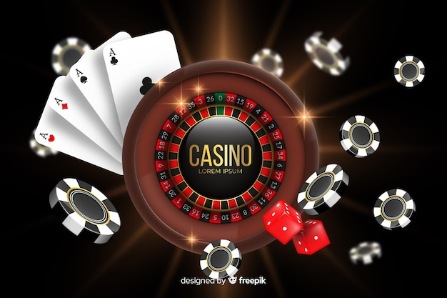 Realistic casino background Free Vector