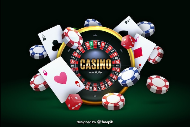 Free Vector | Realistic casino background