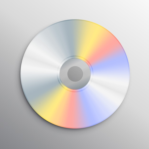 realistic cd mockup vector free download