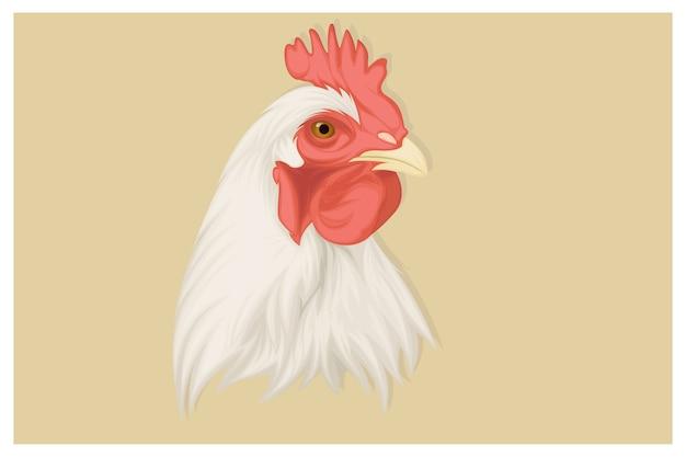 Реалистичная иллюстрация курицы Premium векторы