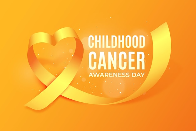 Realistic childhood cancer day illustration Free Vector