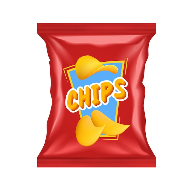 Realistic chips package Free Vector