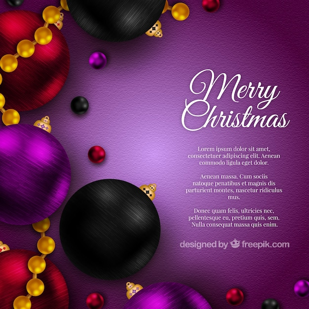 Realistic christmas background in purple color Vector | Free Download
