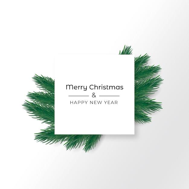 현실적인 크리스마스 배경 무료 벡터