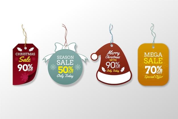 Реалистичная рождественская распродажа Бесплатные векторы