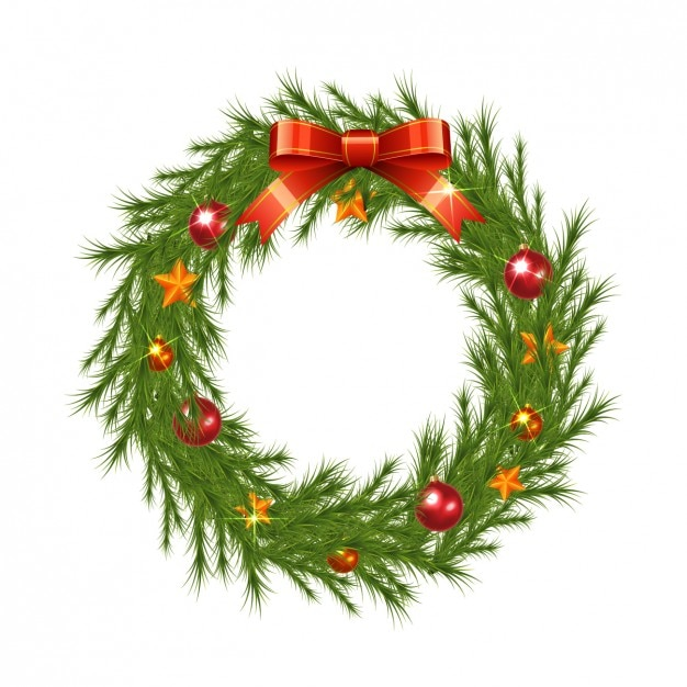 Christmas Wreath Images Free.Realistic Christmas Wreath Vector Free Download