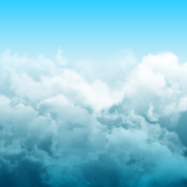 Composizione astratta delle nuvole realistiche con nuvoloso delle nuvole grige sul cielo Vettore gratuito
