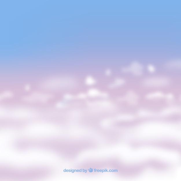 현실적인 흐린 하늘 배경 무료 벡터