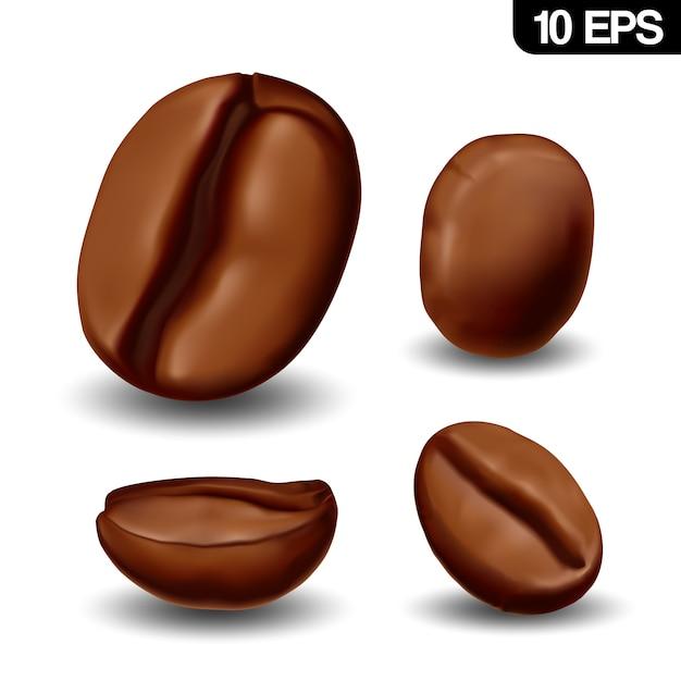 Realistic coffee beans Premium Vector