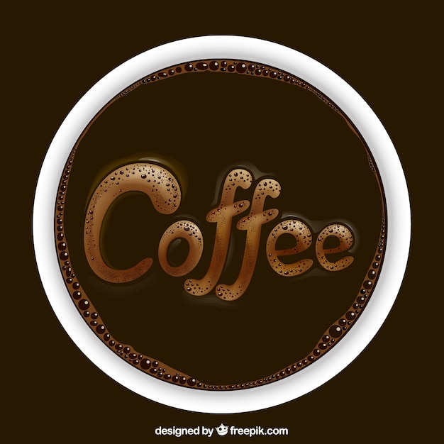Realistic coffee logo Free Vector