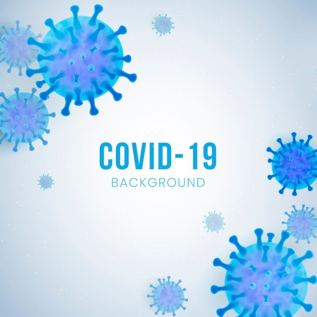 Sfondo realistico di coronavirus Vettore gratuito