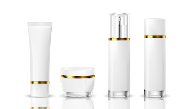 Realistic cosmetic bottle on a white background Premium Vector