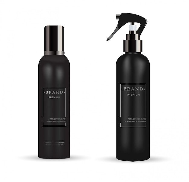 Realistic cosmetic packages for cosmetic product Premium Vector