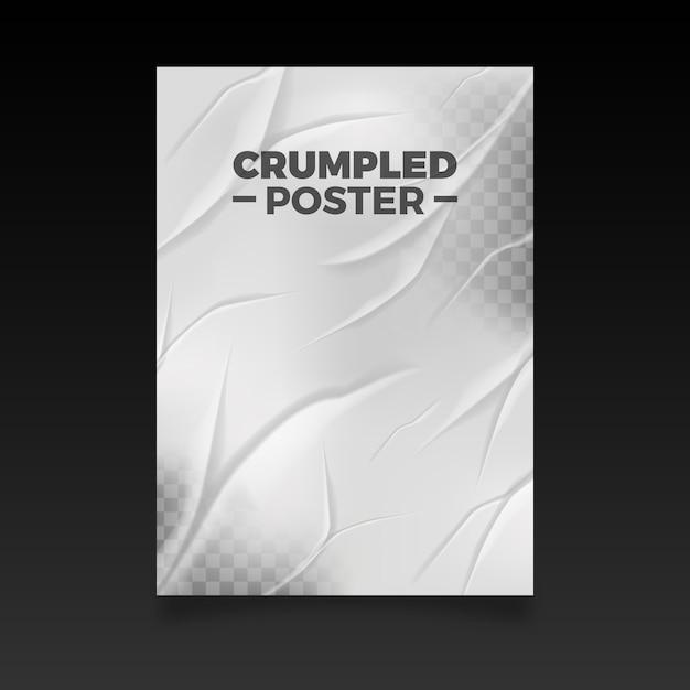 Реалистичный эффект мятого плаката Бесплатные векторы