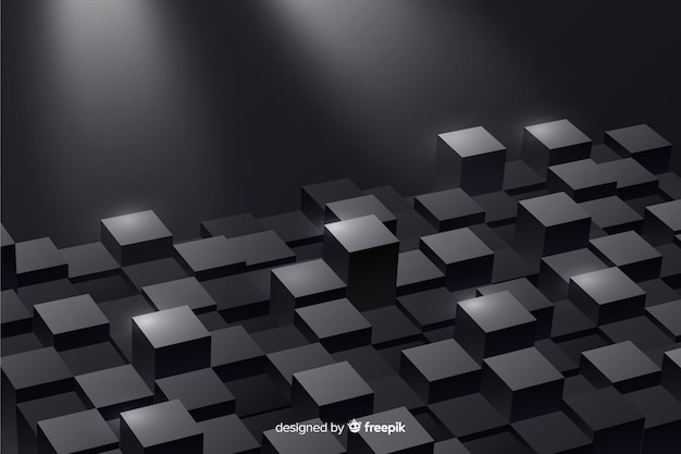 Realistic cubes floor background Free Vector