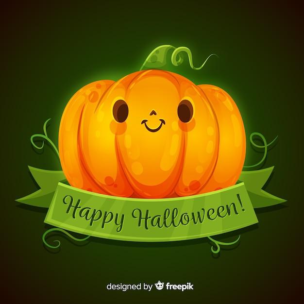 Cute Pictures Of Halloween.Premium Vector Realistic Cute Halloween Pumpkin