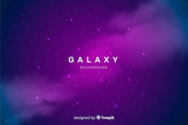 Realistic dark abstract galaxy background Free Vector