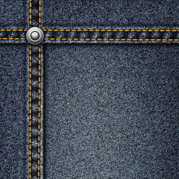Premium Vector Realistic Denim Background