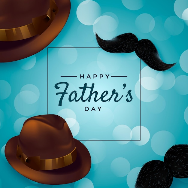 Realistic design father's day hat Free Vector