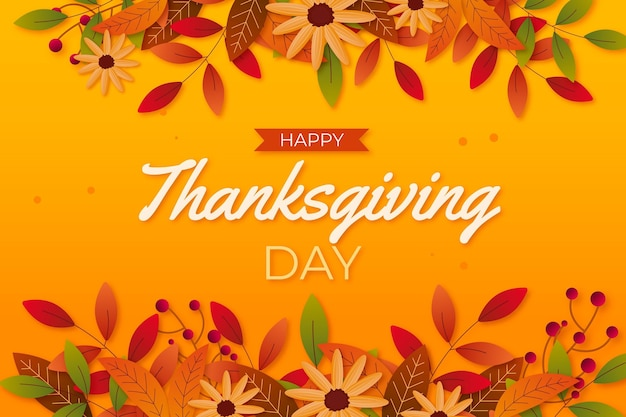 Realistic design thanksgiving background Free Vector