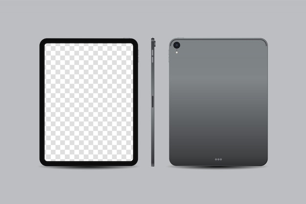 Realistic digital tablet inch with blank screen Premium Vector