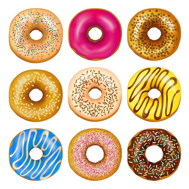 Realistic donuts set Free Vector