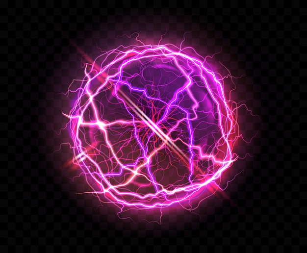 Realistic electric ball or abstract plasma sphere Free Vector