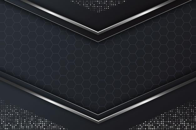Realistic elegant geometric shapes background Free Vector