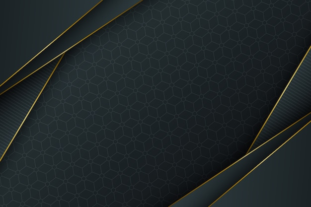 現実的なエレガントな幾何学的図形の背景 Premiumベクター