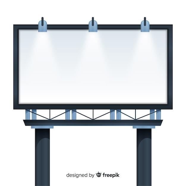 Realistic empty billboard Free Vector