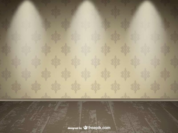 Realistic empty wall spotlight design vector free download for What to do with a blank wall