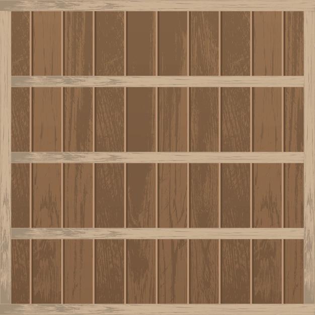 Реалистичная пустая деревянная полка Premium векторы