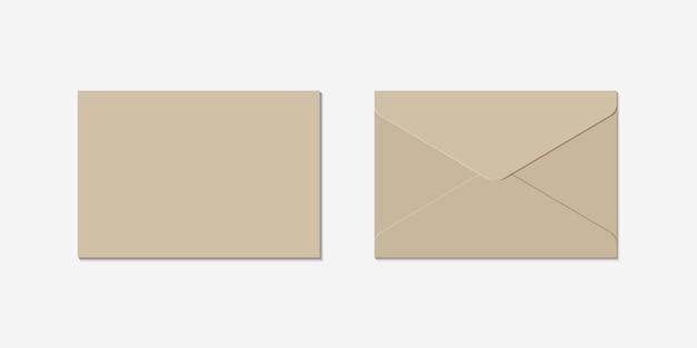 Realistic envelope set Premium Vector