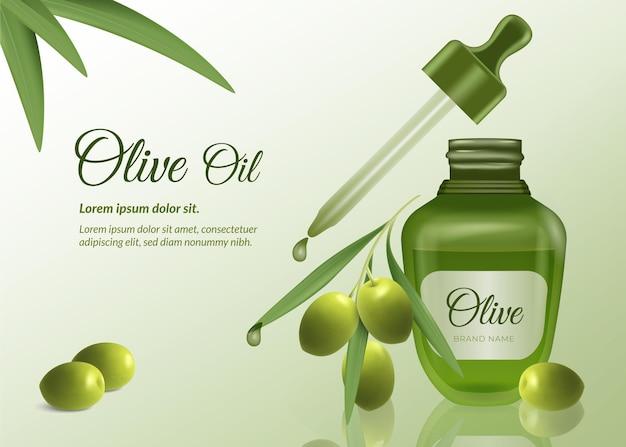 Annuncio di olio essenziale realistico Vettore gratuito