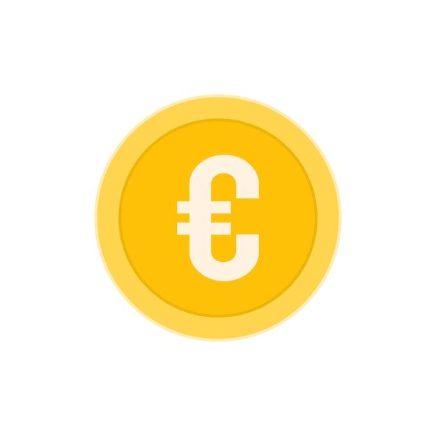 Realistic euro coin Premium Vector